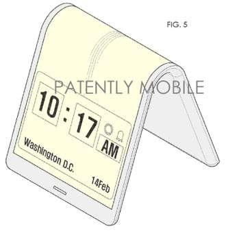 image Samsung brevette un smartphone flexible