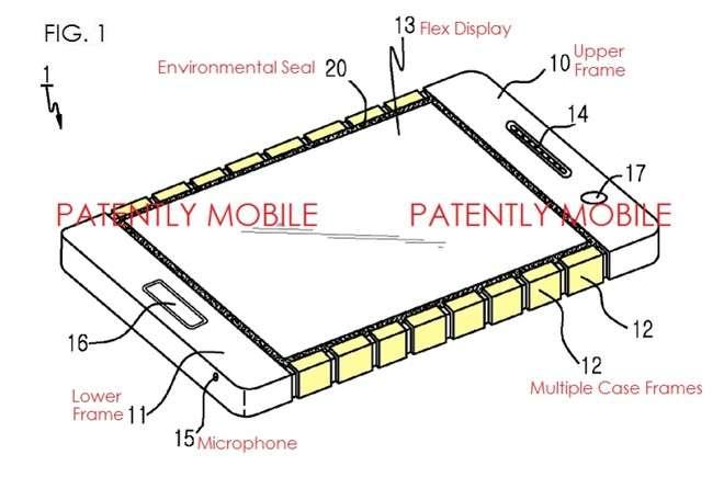 image Samsung dépose un brevet sur la première coque flexible pour smartphone